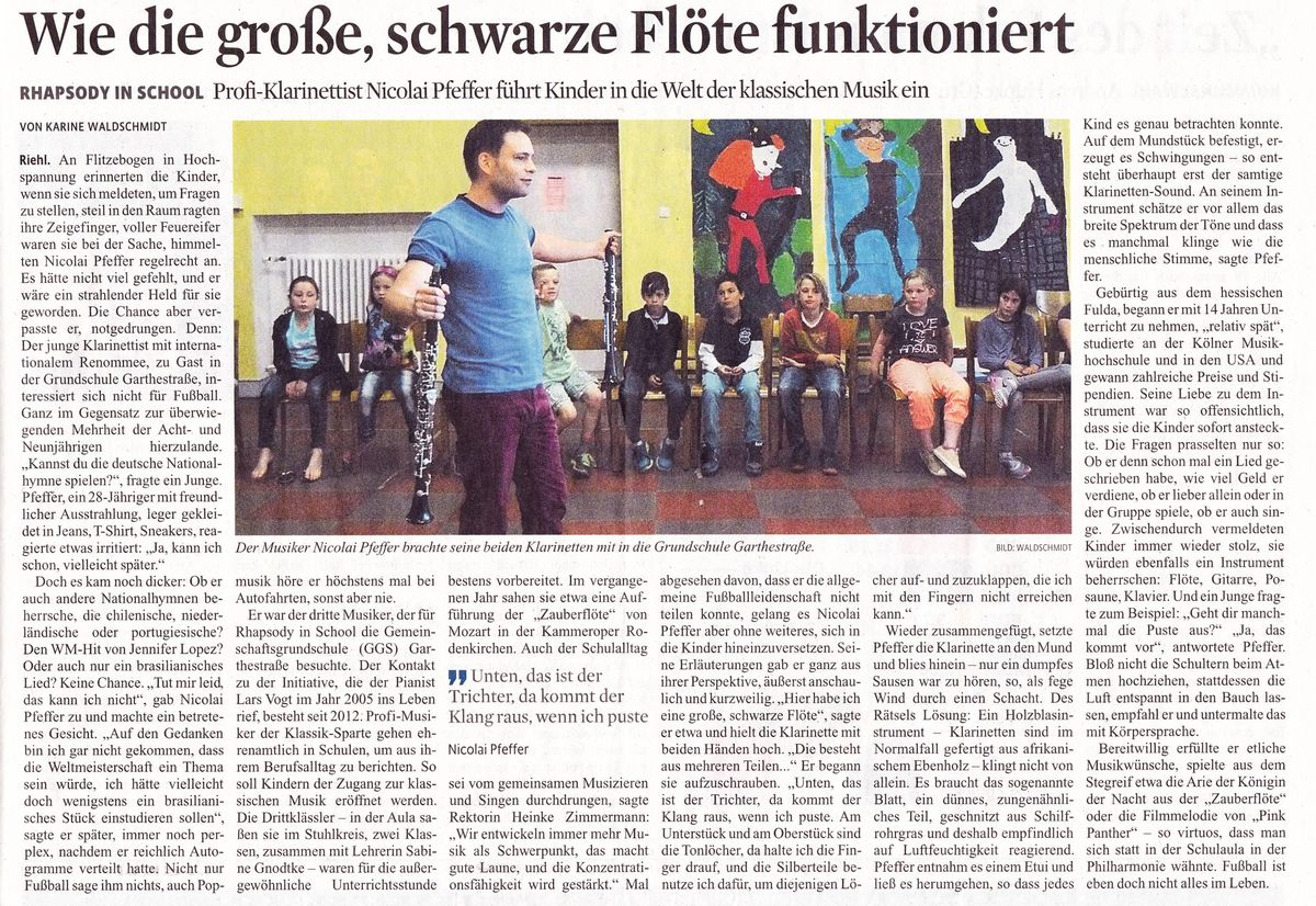 Presse Rhapsody in school 2014
